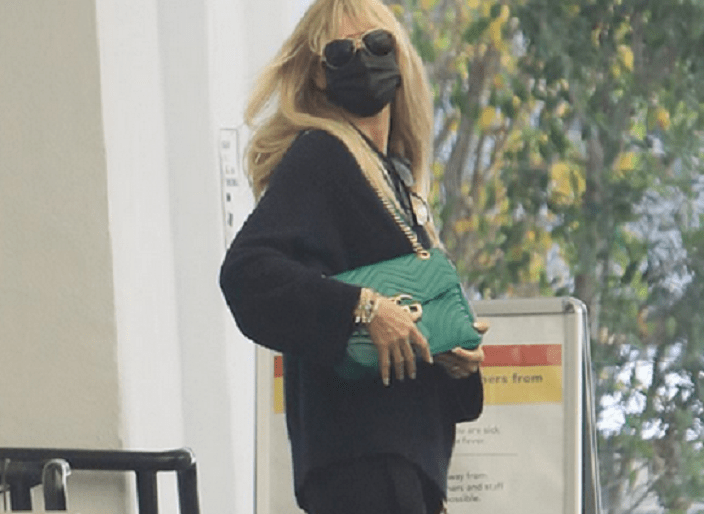 Heidi Klum, 47, stays safe in style as she runs errands wearing her face mask and Gucci purse