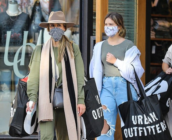 Jessica Alba, 39, puts safety first during shopping spree with her daughters Honor and Haven 6