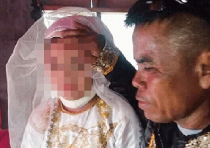 Asnaira Pamansag Mugaling, 13, forced to marry man, 48, and she'll have to care for his kids who are the same age in the Philippines