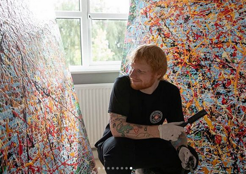 Ed Sheeran, 29, to sell his lockdown art to raise cash for charity 8