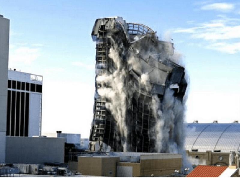 Un cazinou al lui Donald Trump, demolat