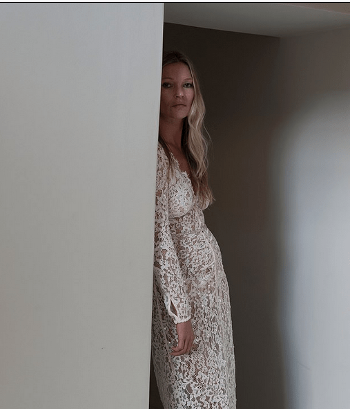 Kate Moss, 47, in a black blazer mini dress for new radiant campaign 10