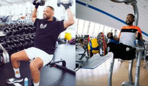 Will Smith, exerciții la greu în sala de antrenamente