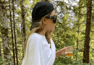 Ashley Olsen and Boyfriend Louis Eisner Hike in the Woods — With a Drink and a Machete
