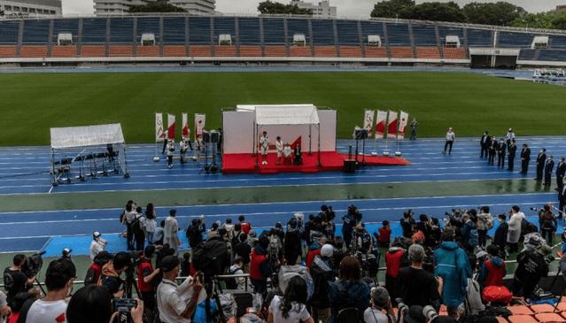 Flacăra olimpică a ajuns la Tokyo