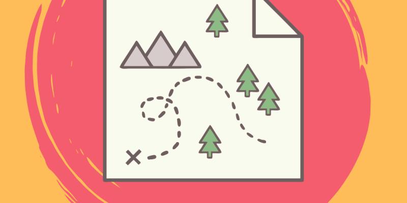 Mapa y círculo