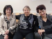 Bukhori speakers Maya Rubinov, Sara Yakubov and Larisa Yakubova at the Bernard Betel Centre. March 25, 2014.