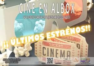 Cartel de cine en Albox.