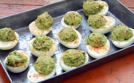 Guacamole Deviled Eggs paleo recipe