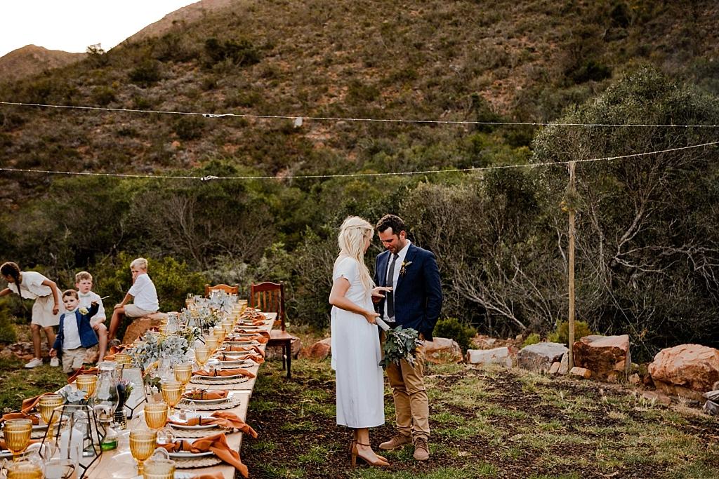 mountain outdoor wedding