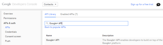 GoogleDevelopersConsoleAPIsAndAuthApisGooglePlus