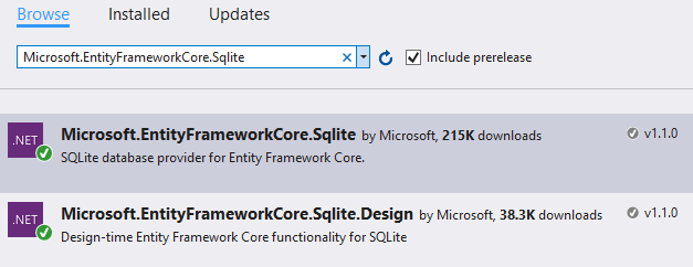 Entity Framework Core with SQLite – Eric L  Anderson