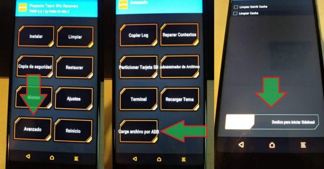 How to load a factory image with ADB Sideload in TWRP from the PC