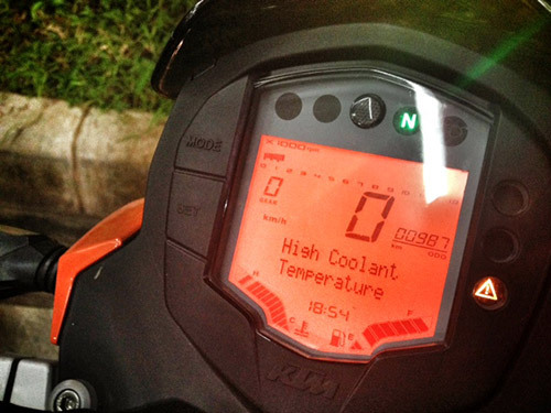 arantan-ktm-duke-200-high-coolant-temperature-malam