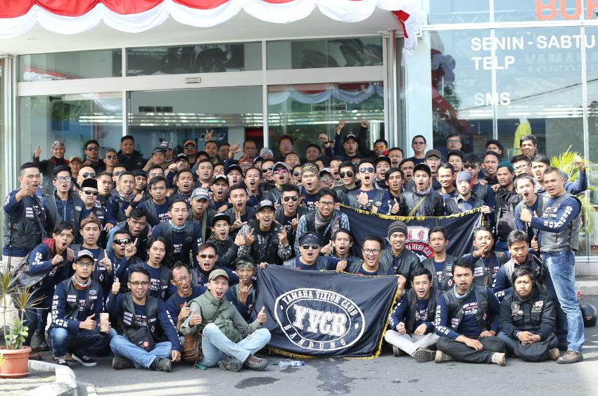 Satu Dekade Yamaha Vixion Club Bandung, Junjung Nilai Kemanusiaan dan Tidak Melupakan Sejarah