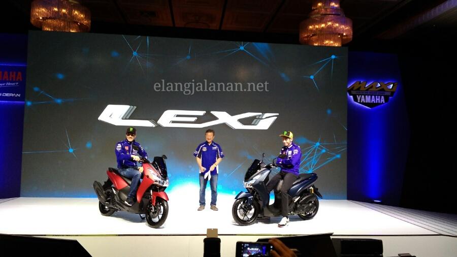 Valentino Rossi dan Vinales Launching Yamaha Lexi 125VVA Bluecore, Harga dibawah Rp 20 juta