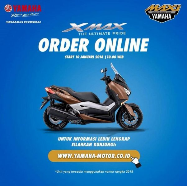 XMAX Order Online Januari Dibuka, Warna Kuning Mulai Naik Daun
