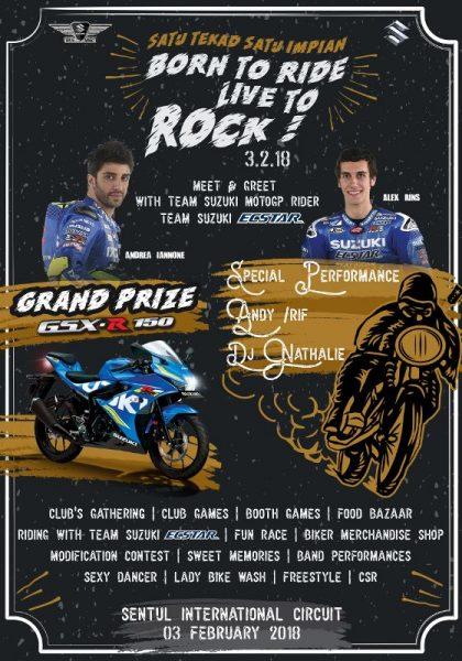 Jelang Suzuki Bikers Meet Nasional, Bakal dimeriahkan pembalap Team Suzuki Ecstar MotoGP