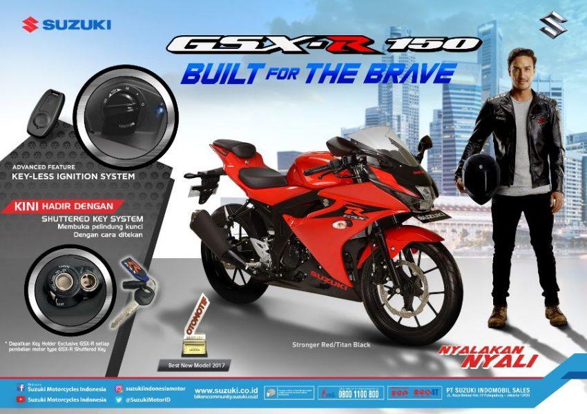 Suzuki Resmi Rilis GSX-R150 Tipe Shutter Key