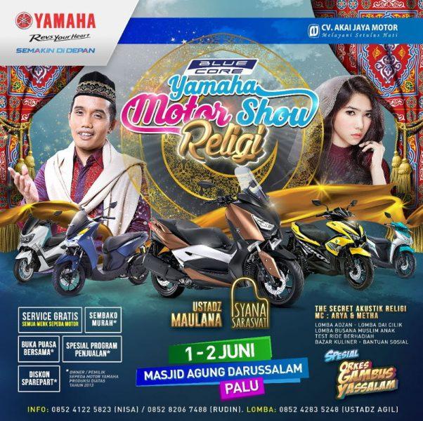 Blue Core Yamaha Motor Show Sambangi Sulawesi, Kental Nuansa Ramadhan