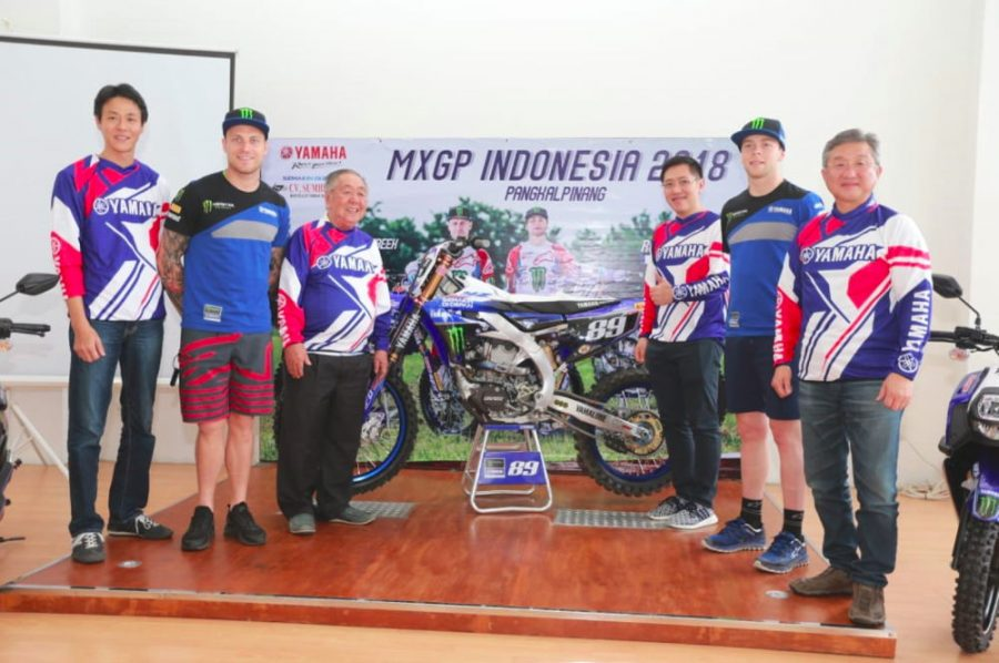 Logo Semakin di Depan Hadir di Tim MXGP Monster Energy Yamaha Factory Team Seri Indonesia