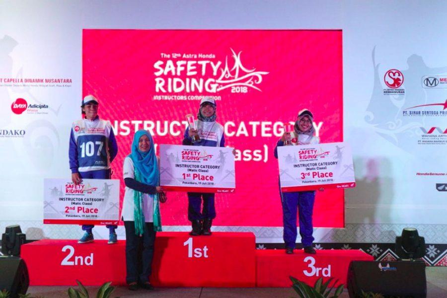 Tim Safety Riding Wahana Kembali Raih Prestasi di Kompetisi Safety Riding Nasional 2018