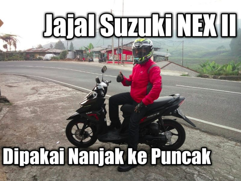 Suzuki NEX II dipakai nanjak ke Puncak