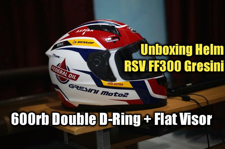 VLOG: Unboxing Helm RSV FF300 Gresini, Sudah Double D-Ring dan Flat Visor