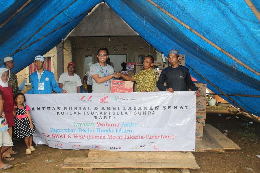 Yayasan Wahana Artha Gelar Aksi Peduli Bencana Tsunami Selat Sunda