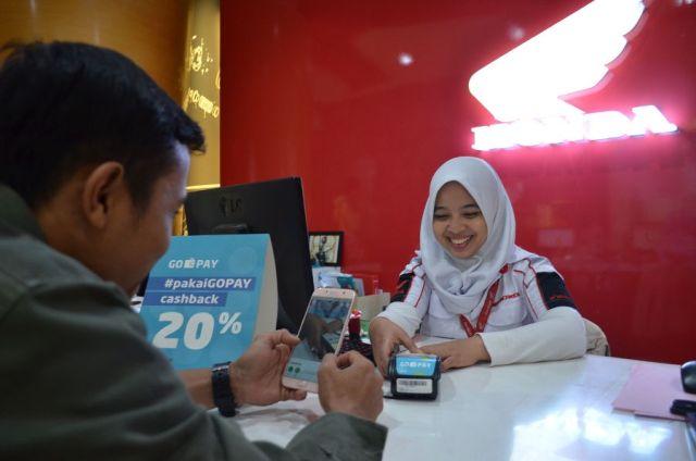 Pembayaran Go-Pay di Jaringan Bengkel Honda
