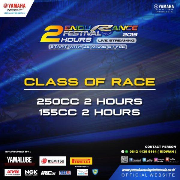 Kelas Yamaha Endurance Festival 2019