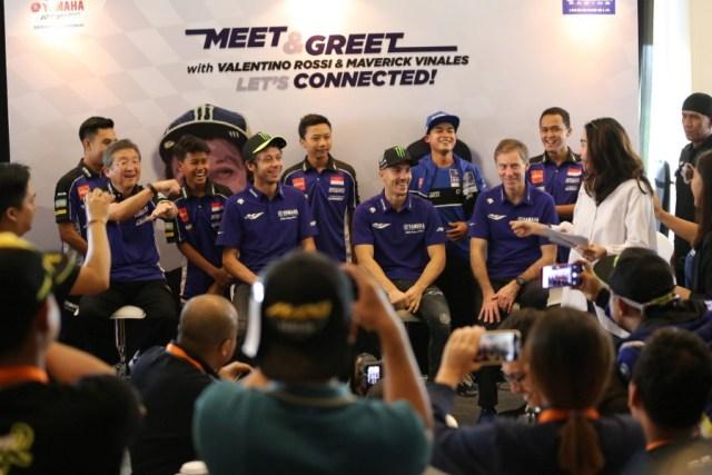 Meet & Greet Rossi dan Vinales