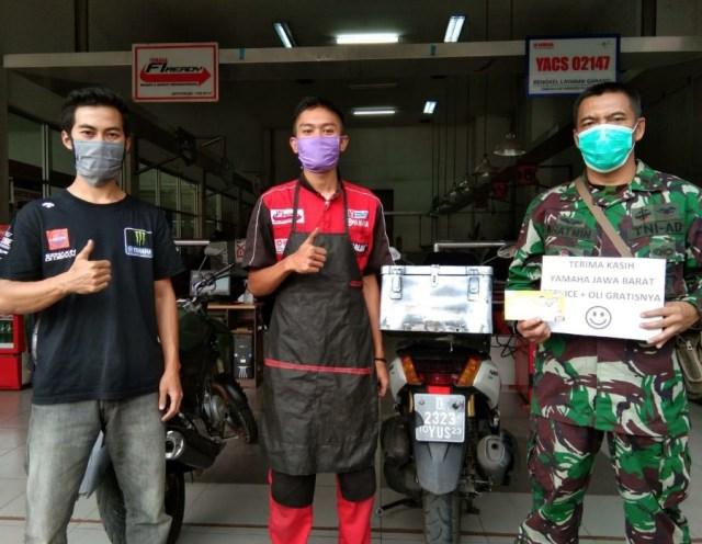 Yamaha DDS Jabar Berikan Bantuan