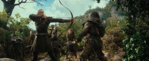 Legolas lucha con los Orcos