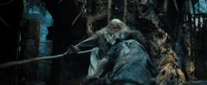 Gandalf lucha con Thráin