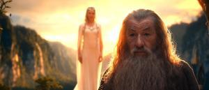 Gandalf y Galadriel en Rivendel