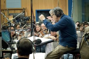 Howard Shore en Abbey Road, grabando la música de El Hobbit: Un Viaje Inesperado