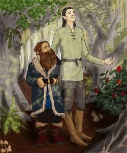 Legolas y Gimli en Fangorn, según Mama Llama