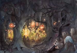 El banquete de los Elfos, según la artista finesa Ulla Thynell