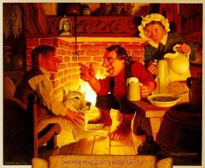 El granjero Maggot y Frodo, según los hermanos Greg y Tim Hildebrandt
