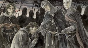 Isildur entrega a Ohtar los fragmentos de Narsil, según Anke Katrin Eißmann