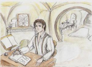 Frodo en Bolson Cerradoo, según AnotherStranger-me