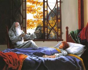 Frodo despierta en Rivendel, según Carol Emery Phenix