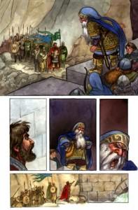 Bardo parlamenta con Thorin, según David T Wenzel