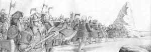 Los enanos de las Colinas de Hierro llegan a la Montaña Solitaria, según Henning Janssen