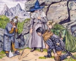 Dáin, Gandalf, Bardo y Thranduil, según Stephen Graham Walsh