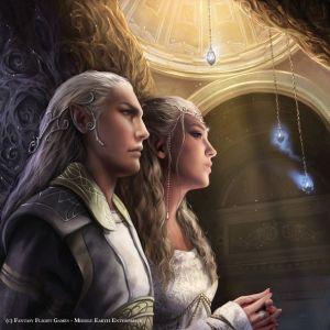 Celeborn y Galadriel, según Magali Villeneuve