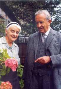 Edith Mary Tolkien y J.R.R. Tolkien en 1966
