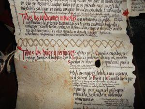 Réplica del contrato de saqueador de Bilbo, obra de apmesa