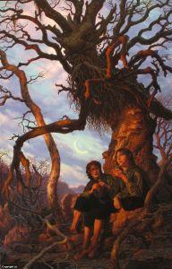 Bárbol con Merry y Pippin, según Raoul Vitale